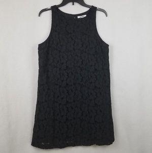 BB Dakota Black Lace Shift Dress Sleeveless